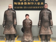 The fake terracotta warriors